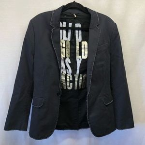 Juicy Couture Distressed Fitted Women's Blazer